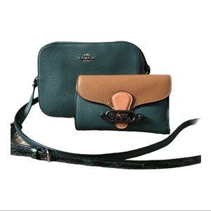 COACH Mini Camera Crossbody Bag and Wallet